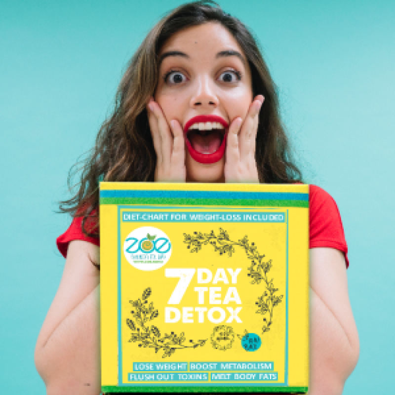 7 Day Tea Detox - Lose upto 2 kgs in a week, flush out toxins & detox your body